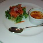 ビ アバンス - 前菜・サラダとチーズブリュレ