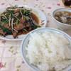 太雅 - 料理写真:ニラレバ炒めとライスセット@800円