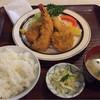 松原食堂 - 料理写真:フライ盛り合わせ定食 ¥890- 海老・いか・ひらめ・かにクリームコロッケ