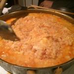 博多もつ鍋 いっぱち - たまらん!!!美味しすぎました…出汁もちょうどイイ辛さ…!