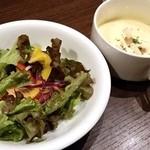 ピッツェリア バール ナポリ - セットサラダ、スープ