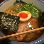 44257468 - 柚子塩らーめん(¥980)に麺変更真空手揉み麺(¥180)