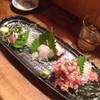 ちょうちん - 料理写真:お刺身盛り合わせと1500円の森伊蔵(#^.^#)