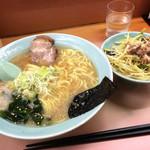 ラーメンかいざん - ラーメンネギ丼付き800円