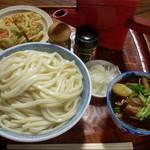 古久や - 肉つゆうどん 大(760円)+かき揚げ(120円)