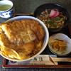 角清 - 料理写真:カツ丼(うどん付き)  980円