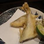 う越貞 - 鵡川の柳葉魚の天ぷら でかい、ふっくら