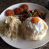 ハットヤイ - 料理写真:ガパオライス トーマン サラダ