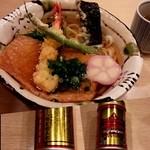 千姫茶屋 - 海老の天ぷらときつねのおうどん