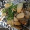 牡蠣と粒ニンニクのバター醤油 鉄板焼き