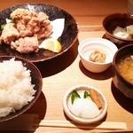 ごはんや一芯 - ランチ 若鶏の竜田揚げ(1000円)
