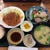 故郷市場 みなと食堂 - 料理写真:黒豚とんかつとお刺身定食  貝汁付き