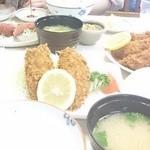 44392931 - 20150523 アジフライ定食とエビフライ