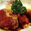 サンドリア - 料理写真:ハンバーグ&クリームコロッケ