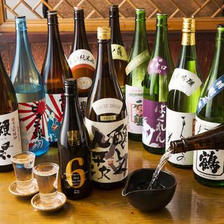 九州地方の銘柄焼酎や日本酒を多数揃えております。