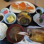 Oshokujidokorowakabayashi - 料理写真:かにランチ 1750円(2015.11)