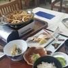 十和田食堂 - 料理写真:十和田湖で楽しみにしていた、「十和田バラ焼き 単品 (850円)」と「十和田湖ひめます塩焼定食(中) (1600円)」