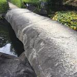 太閤園 別館 - 一枚ものの岩橋