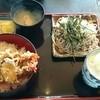 福壽庵 - 料理写真:天丼&そば (ランチサービス)    ¥930