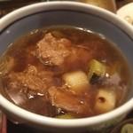 44502707 - 横浜発祥の牛鍋をイメージしたという付け汁