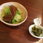 たちじゅう園 - セットのサラダ・高菜