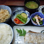 文福 - 料理写真:焼き魚定食850円♪(太刀魚選択)