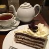 ハーブス - 料理写真:ブラック&ホワイトチョコレートケーキ  &  セイロンティー