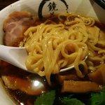 44523543 - 麺はやや太めの平麺