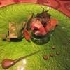 メルモーゾダ ドロカワ - 料理写真:前菜はアワビのカクテルサラダ、見た目も美味しさも素晴らしかったです