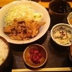 銀座ひかり - ひかりランチ 豚生姜焼マヨネーズ