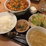 44538720 - 麻婆豆腐セット1,280円+大盛(200円)+