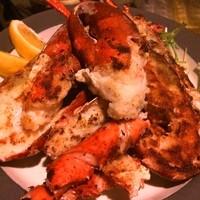 貝と海老そして蟹 - オマール海老の鉄板焼き 2800円