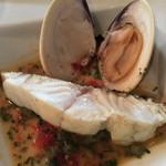 44555715 - 白身魚とハマグリのアクアパッツァ