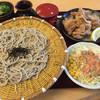 そば処 ふくふく亭 - 料理写真:十割そば&唐揚げセット 入浴券付=1200円