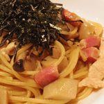 """キハチ - 伊達鶏といろいろ茸のスパゲティ """"ジャポネ"""""""