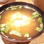天丼 金子半之助 - 味噌汁(100円)