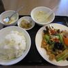 美味餃子房 - 料理写真:木耳と豚肉野菜と卵炒め(定食)