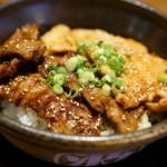 北海道マルハ酒場 - 合盛カルビ丼大盛アップ