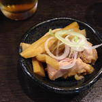 わた井 - ビールのあて(無料)