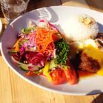 山恵 - 鹿肉ハンバーグプレート