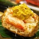 帆掛鮨 - 料理写真:毛蟹だるま(2015年11月)
