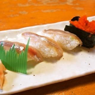 大豊寿司 - 料理写真:ししゃも寿司(2015年11月)