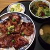 梵天食堂 - 料理写真:梵天さんと言えば「炭火焼き豚丼」♡