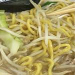 竹ちゃんタンメン - 麺アップ