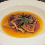 びすとろ UOKIN - ボンポテ:活〆穴子(宮城)はマデラ酒のソースで