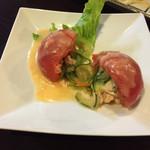 鳥料理 杉本 - 〈2015年10月〉トマトサラダ