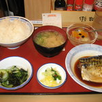 天六食堂 - さば煮定食 630円