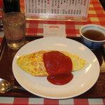 天六食堂 - 牛肉オムライス 630円