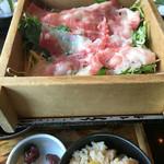 美食 米門 - 近江牛の蒸したやつ。