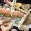 ささがせ - 料理写真:天麩羅。活車海老を筆頭にかなりのボリューム